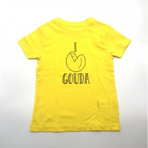 Kids Shirt Geel Kaas